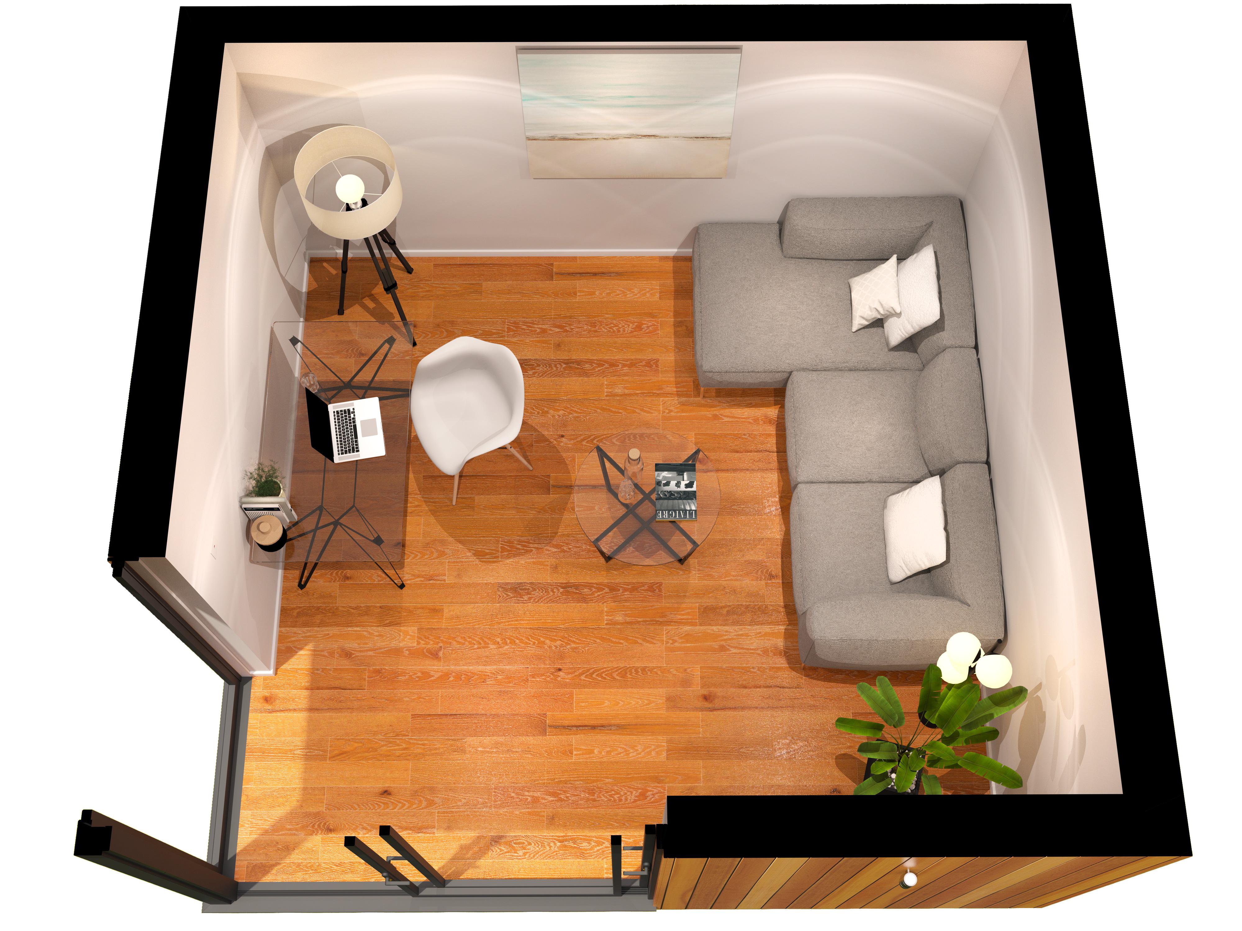 Garden room and garden office layout