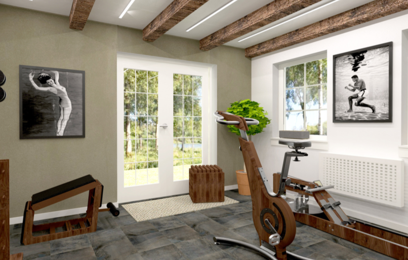 Garden room fitness gym