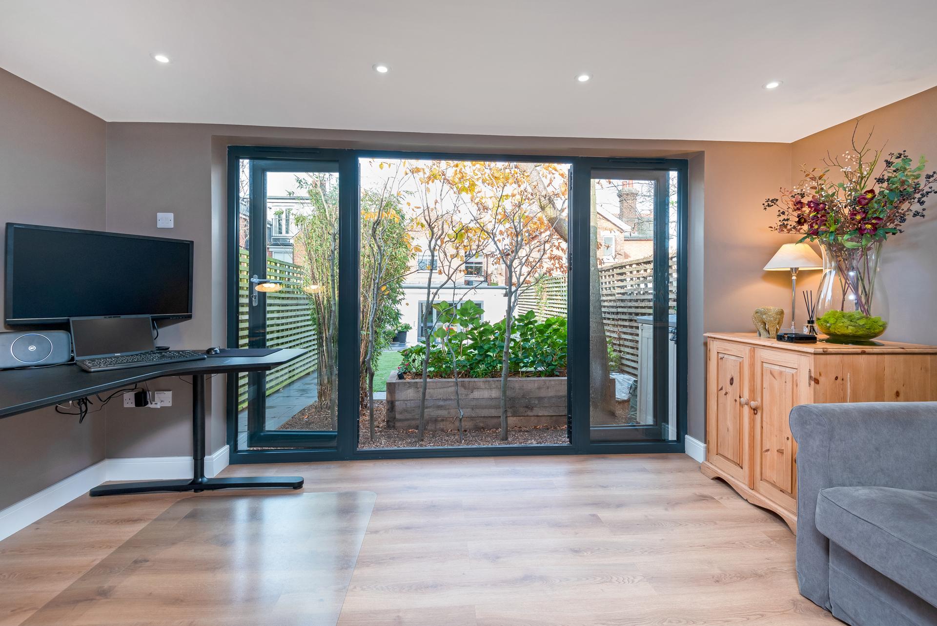 Garden room office pod in Essex