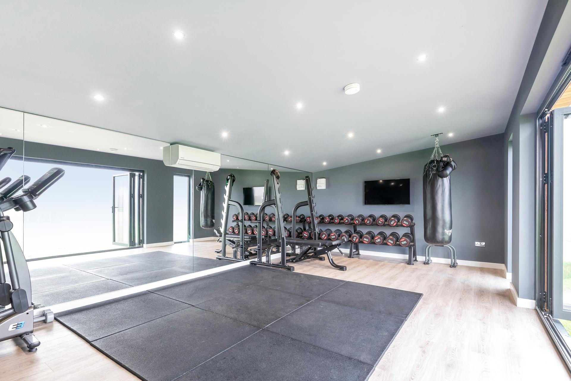 Garden room gym studio in Essex