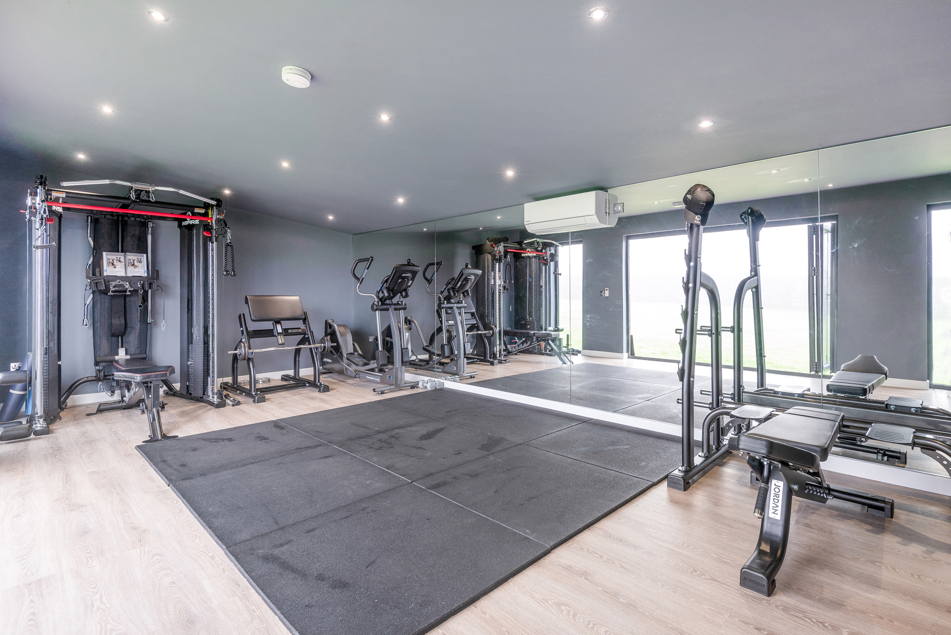 Garden room gym in Essex