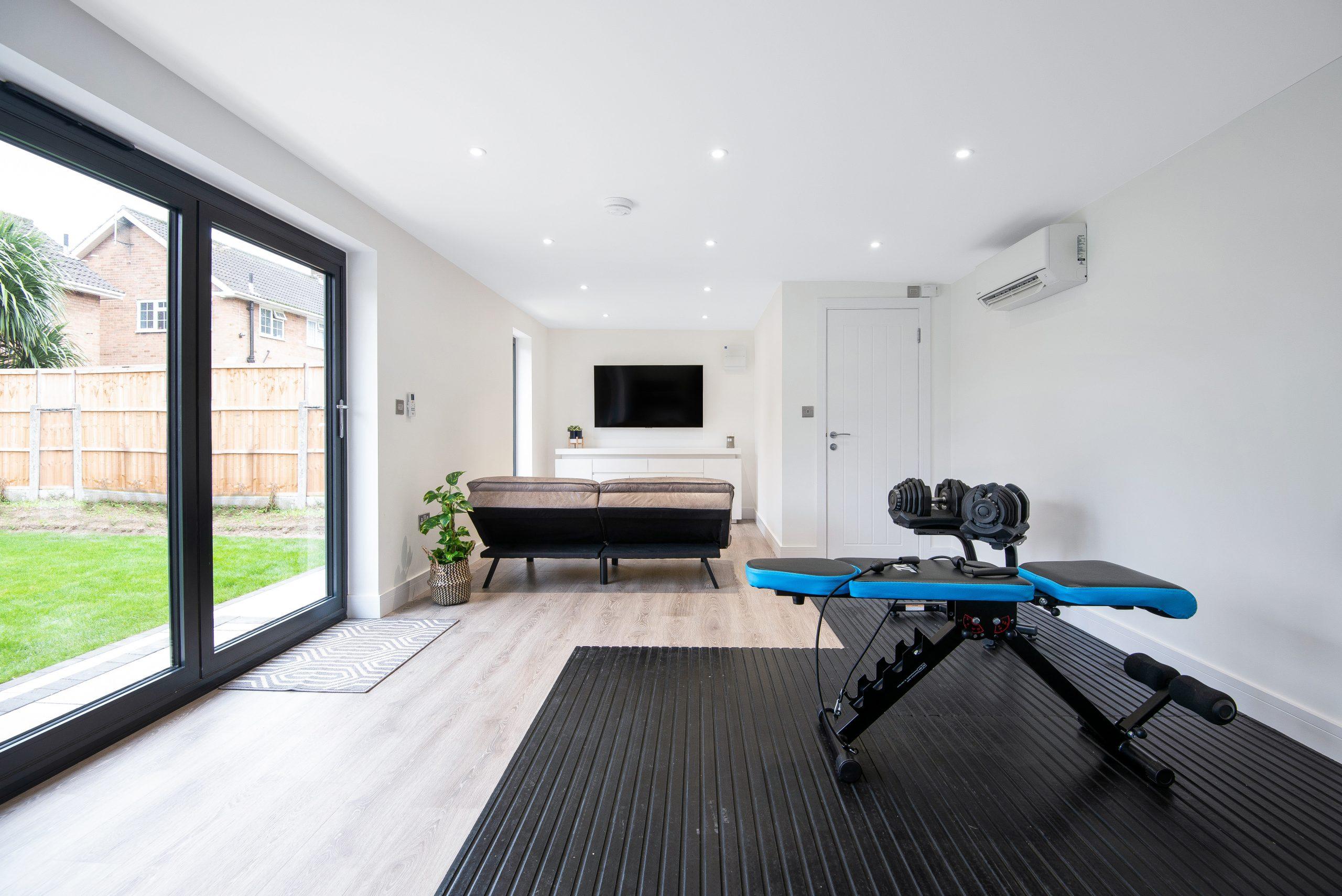 fitness studio in Essex garden room