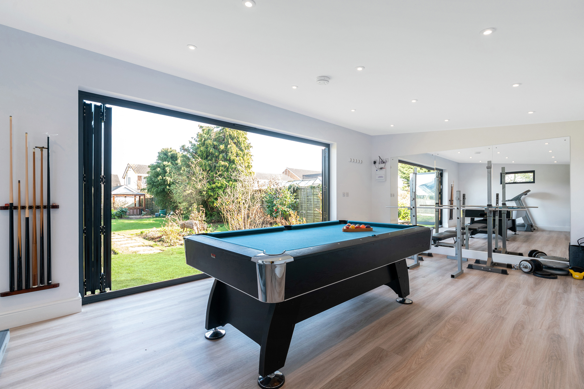 Garden room for gum and games room