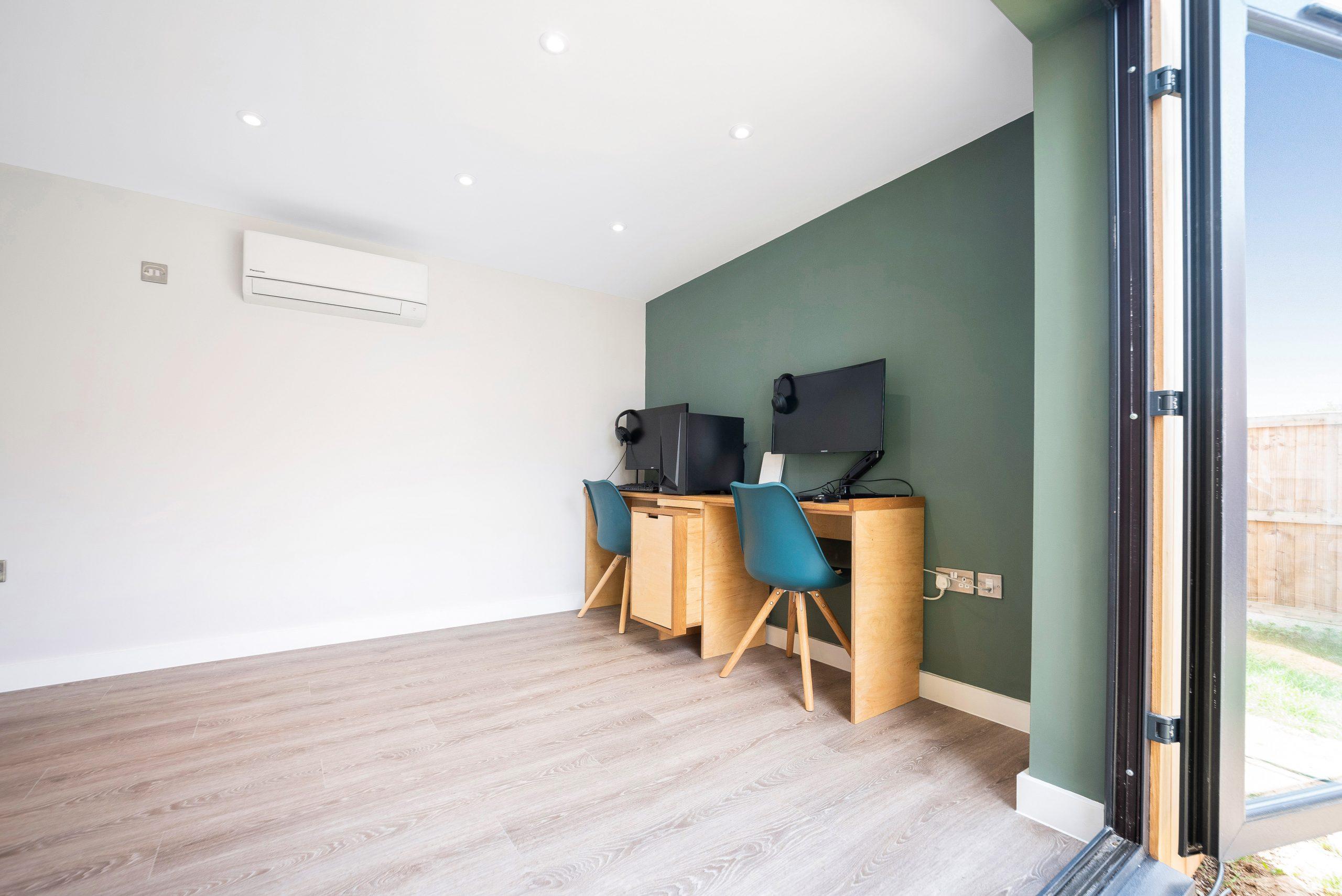 Garden room office in Essex