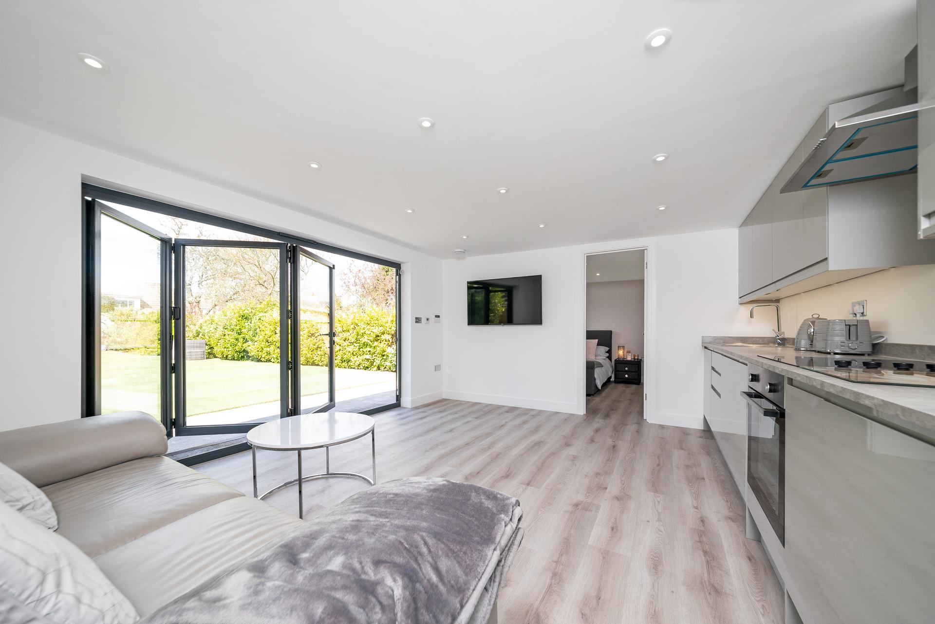 Modern garden room with kitchen, Essex