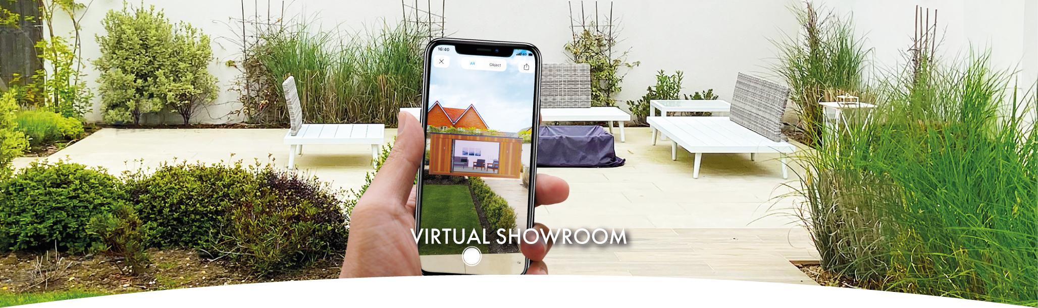 Virtual garden room showroom