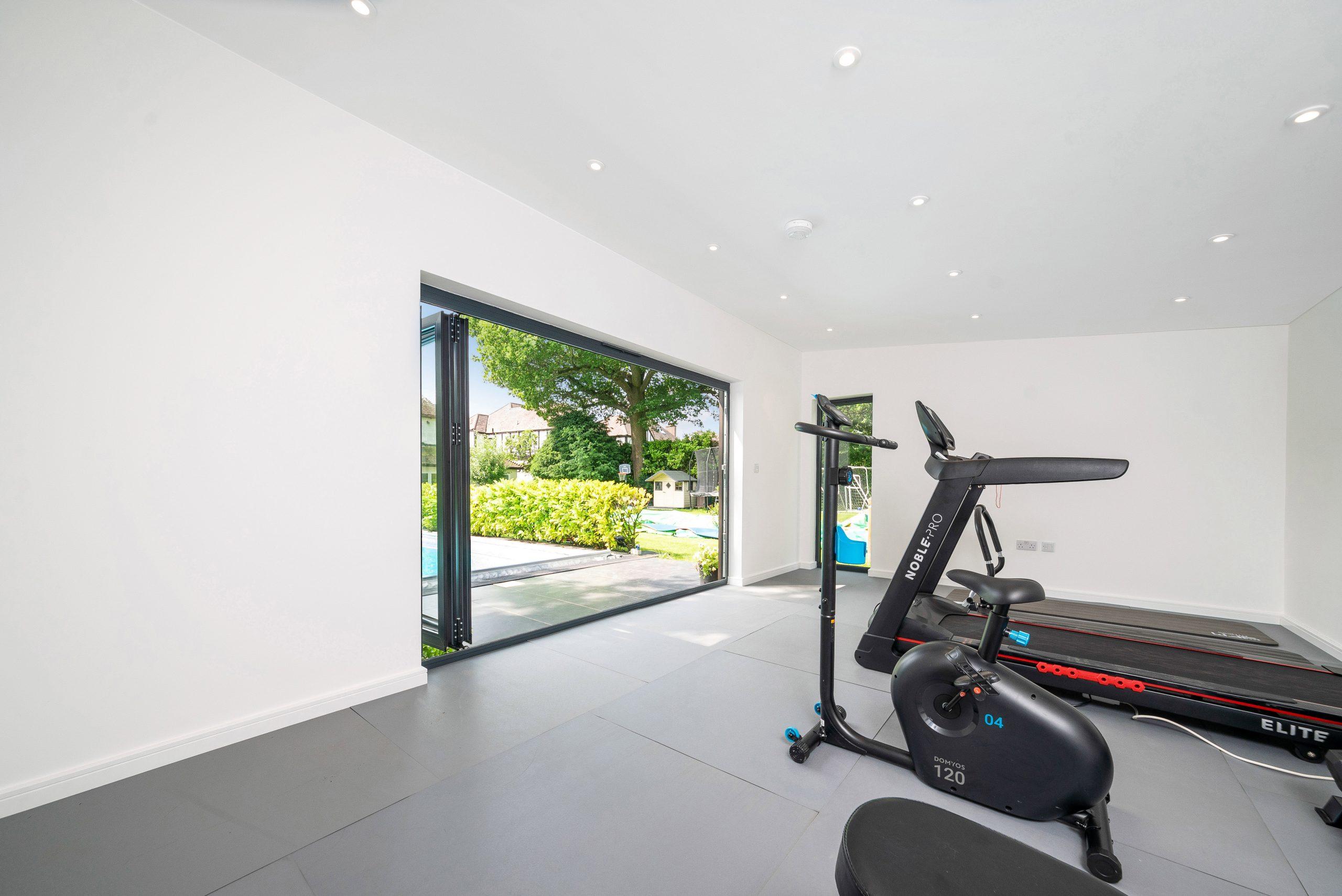 Contemporary garden gym room in Essex